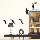 Wallpark Niedlich Isländisch Pinguine Abnehmbare Wandsticker Wandtattoo, Kinder Kids Baby Hause Zimmer Kinderzimmer DIY Dekorativ Klebstoff Kunst Wandaufkleber