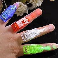10x LED Fingerlampe Mitbringsel Fingerring Leuchtringe Fingerlichter Ring für Finger Mitgebsel Gastgeschenke Kindergeburtstag Geburtstag Kinder Giveaways Jungen & Mädchen