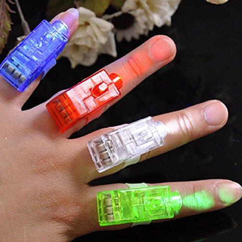 10x LED Fingerlampe Mitbringsel Fingerring Leuchtringe Fingerlichter Ring für Finger Mitgebsel Gastgeschenke Kindergeburtstag Geburtstag Kinder Giveaways Jungen & Mädchen (Jungen Geburtstag Pinata)