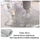 shinybeauty Shimmer Silber - Pailletten Tischläufer tassel-30 X 180 cm, Glitzer Rund Pailletten Stoff für Tisch Läufer in Party Hochzeit Bankett Tisch Leinen Layout oder Dekoration - 4