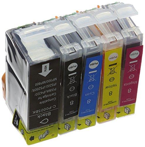 Preisvergleich Produktbild Prestige Cartridge PGI-5 CLI-8 24-er Pack Druckerpatronen für Canon Pixma MP500, MP530, MP600, MP600R, MP610, MP800, MP800R, MP810, MP830, MP950, MP960, MP970, iP4200, iP4300, iP4500, iP5100, iP5200, iP5200R, iP5300, schwarz / photoschwarz / cyan / magenta / gelb