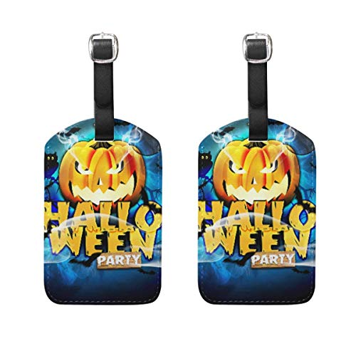 Luggage Tags Halloween Party Travel ID Bag Suitcase Duffel Backpacks Handbag Tags 2 Pack 00df8122