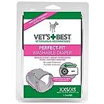 Vet's Best Perfect-Fit Washable Female Dog Diaper, XXS / XS