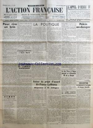 Henri Pozzi - ACTION FRANCAISE (L') [No 210] du 29/07/1937