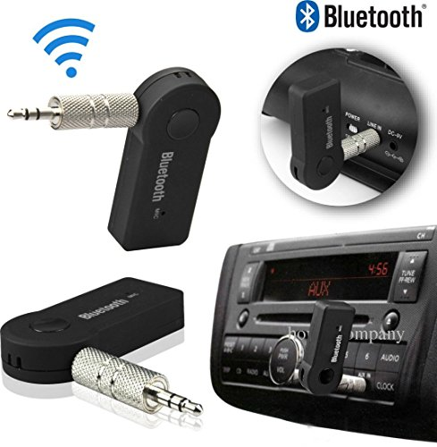 Generix 3.5MM Bluetooth AUX Audio Stereo HandFree Receiver Adapter Kit (Black)