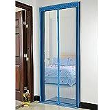 Bluelans Magnet Fliegengitter Tür Insektenschutz 90x210 cm, Der Magnetvorhang ist Ideal für die Balkontür, Kellertür, Terrassentür, Kinderleichte Klebemontage Ganz Ohne Bohren (Blau)