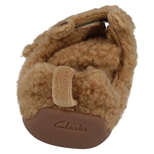 Clarks Jungen Seasonal Shilo Jack FST Textil Hausschuhe in hellbraun Hellbraun