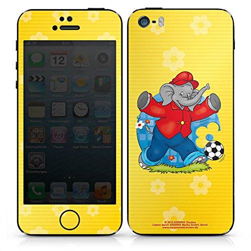 Apple iPhone 4s Case Skin Sticker aus Vinyl-Folie Aufkleber Benjamin Blümchen Fanartikel Merchandise Fussballstar DesignSkins® glänzend