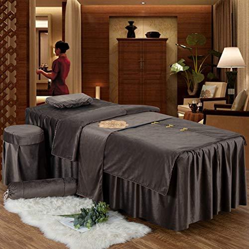 Bettabdeckung Vier-Anzug,eins-knopfschnalle Massage Laken Für,elastische Mit Loch Massageliege Auflage Set-d 185x60cm(73x24inch) ()