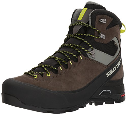 Salomon Herren X Alp MTN GTX Trekking-& Wanderstiefel, Schwarz (Black/Beluga/Lime Punch 000), 44 EU Gtx Mountaineering Boot