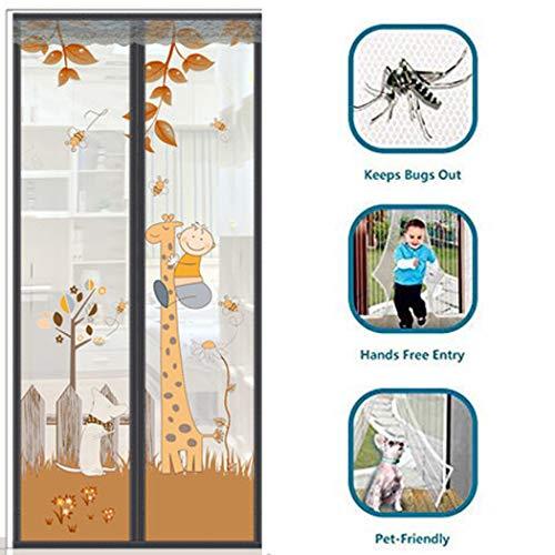 XMZFQ Schwerer Insektenschutzgitter-Vorhang mit Magneten und Magic Tape zum Schutz vor Insekten,110 * 220cm(W*H)
