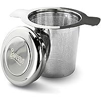 Sweese Teesieb Teefilter Geschenk-Set mit Deckel/Abtropfschale, Edelstahl fein Sieb Passend für Tasse/Teekannen/Töpfe/und geeignet für jeden Losen Tee und alle Tee-Blätter