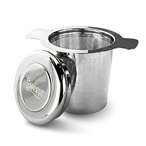 Sweese Teesieb Teefilter Geschenk-Set mit Deckel/Abtropfschale, Edelstahl fein Sieb Passend für Tasse/Teekannen/Töpfe/ und geeignet für jeden losen Tee und alle Tee-Blätter