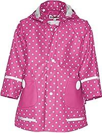Playshoes Mädchen Jacke Regen-mantel Punkte