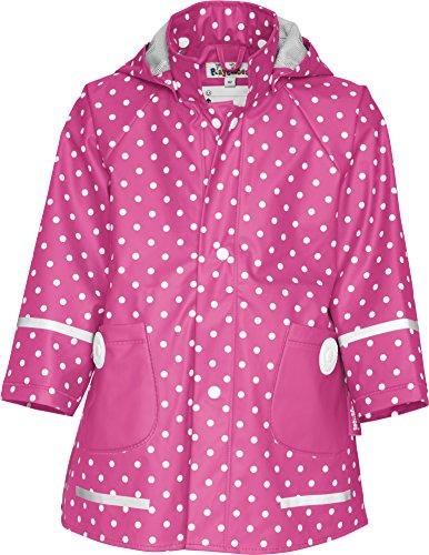 Playshoes Mädchen Regenmantel 408566 Playshoes Kinder Regenmantel, Regenjacke mit Punkten, Pink (Pink ), 104