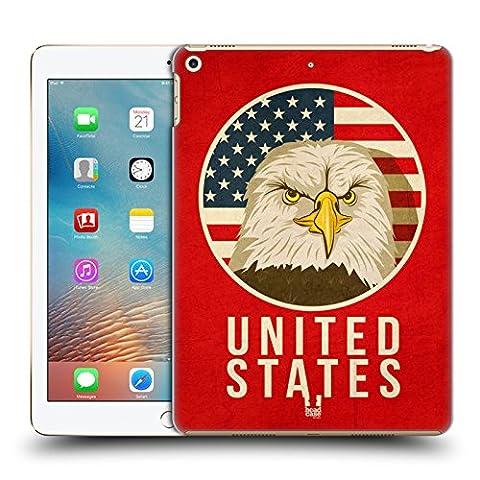 Head Case Designs États-Unis Animaux Patriotiques Étui Coque D'Arrière Rigide Pour Apple iPad Pro 2 9.7 (2017)