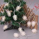 Weihnachtsbeleuchtung Weihnachtslicht Weihnachts Dekoration Lichterkette LED Streifen String Tannenzapfen Motiv-Lampen Form Baumbeleuchtung Innenlichterkette Stimmungslichter