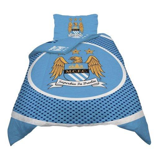 Manchester City FC - Parure de lit simple ou double réversible