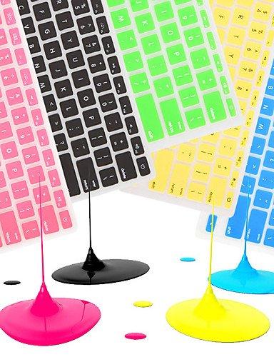 """Preisvergleich Produktbild 'Komn 0.5coosbo französisch eu azerty Silikon Haut der Abdeckung der Tastatur für 11""""/13""""/15""""/17"""" Air Mac Macbook Pro/Retina (Farben, black-11"""", black-11–.-"""