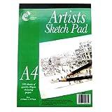 Artisti A4 abbozzare bloc-notes - 100 fogli di carta da disegno 80gsm qualità