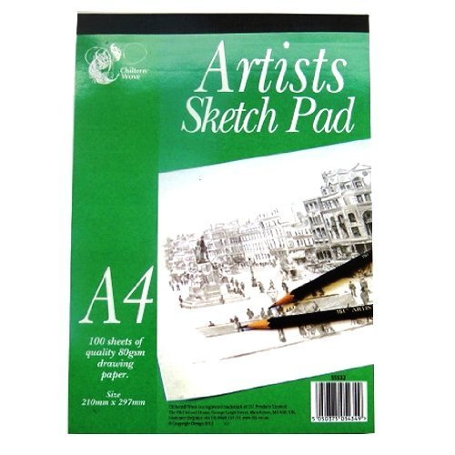 a4-artists-sketching-pad-100-sheets-of-quality-80gsm-drawing-paper