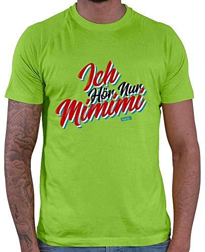 HARIZ  Herren T-Shirt Ich Hör Nur Mimimi Sprüche Rot Schwarz Weiß Plus Geschenkkarten Hell Grün ()