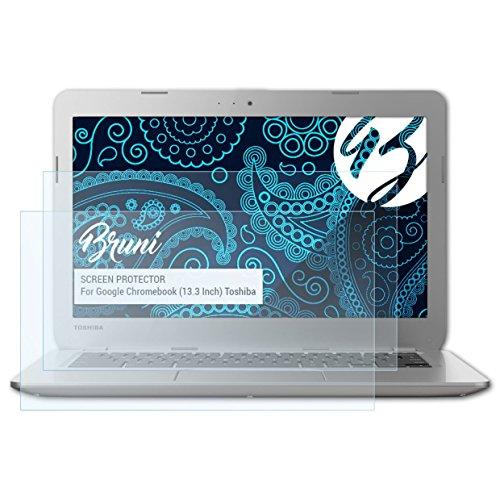 Bruni Schutzfolie kompatibel mit Google Chromebook (13.3 Inch) Toshiba Folie, glasklare Bildschirmschutzfolie (2X)
