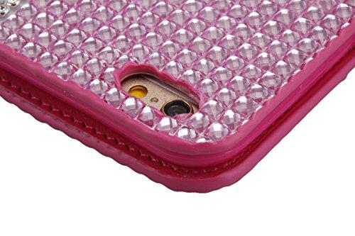 Cassa per Apple iPhone 6/6s 4.7, CLTPY Puro Vintage Belle Luccichio il Rhinestone Serie Portatile Back Cover, Completa Semplice Kickstand Resistenza Disegno Protettivo Case per iPhone 6,iPhone 6s + 1 Rosa 1