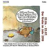 Krebs Mini 2018: Sternzeichenkalender-Cartoon - Minikalender im praktischen quadratischen Format 10 x 10 cm.
