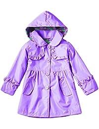 Haodasi Girls Rain Jacket Hooded Raincoat Impermeable Waterproof Outwear Ropa de calle Coats Kids Clothes 2-7Year