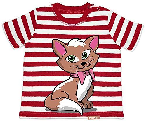 treifen Kätzchen Schleife Tiere Kindergarten Plus Geschenkkarten Feuerwehr Rot/Washed Weiß 18-24 Monate ()