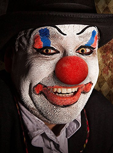 Hochwertiges Halloween Schminke Komplett-Set Horror Clown mit perfekt abgestimmten Komponenten - Make-Up - Clownsnase…