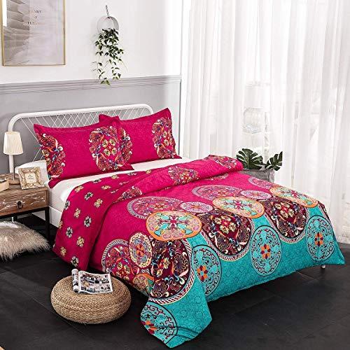 wuy Betten Set Bohemian Oriental Mandala Betten Quilt Bettbezug-Set Twin Queen King Size 3 King Farben (Für King-size-bett Quilts)