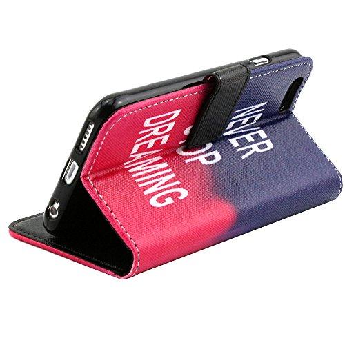 """EUDTH iPhone 6s Coque Peinture Style Housse Flip Cover Portefeuille Etui en Cuir de Protection Case vec B¨¦quille pour iPhone 6 6S 4.7"""" -YH07 YH05"""