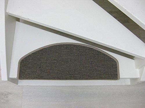 Teppichwahl Stufenmatten San Salvador 65x24x4cm Antracite, Beige, Blau, Gris, Sisal (Beige)