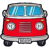 Balvi - Beach toalla de playa o de piscina. Diseño retro y original. Diseño de furgoneta surfera.