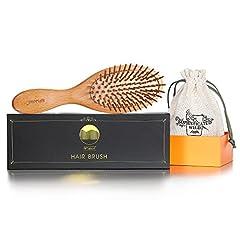 Idea Regalo - BFWood Spazzola Capelli in Legno per massaggiare il cuoio capelluto – manico grande