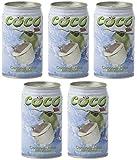 5x Coconut Juice a 310ml Kokosnuss getränk mit Fruchtfleisch Saft kokosnusswasser (gesamt 1,55L)
