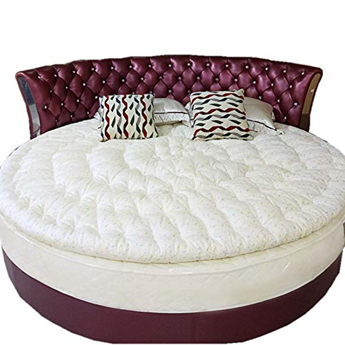 GWW Runde Baumwolle Futon Matratze Topper,verdicken Faltrunde Sleeping Pads Atmungsaktive Hautfreundliche Bettrolle Für Hotel-d 180cm(71inch) - Baumwolle Futon