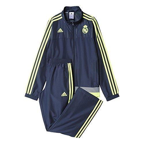 adidas Jungen Trainingsanzug REAL PR Suit Y Grau/Gelb, 176 -
