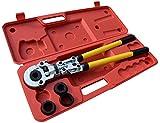 Pinza Crimpatrice 16-32mm Crinmping Tool Con Calibratori e Piegatura Springs Press Pinza Verbund tubo pex PE di