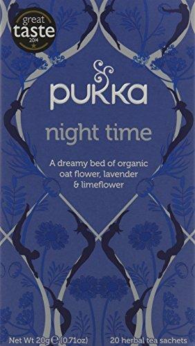Pukka Night Time, Organic Herbal Tea with Valerian (4 Pack, 80 Tea bags)