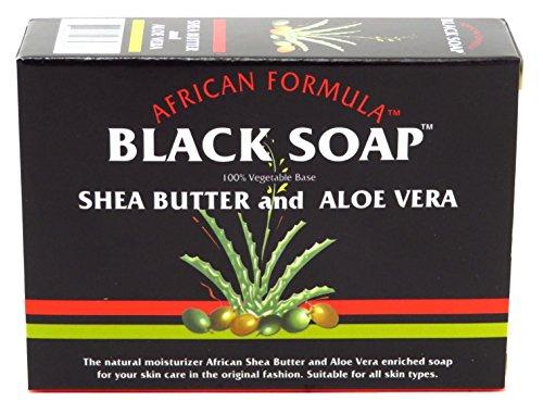 African Formula Black Soap Shea Butter & Aloe Vera 100g by African Formula (Shea-butter Madina)