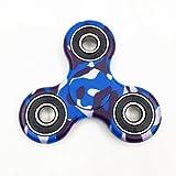 BBTshop Blu Camuffamento Fidget Hand Spinner Sollievo dallo Stress Giocattolo immagine
