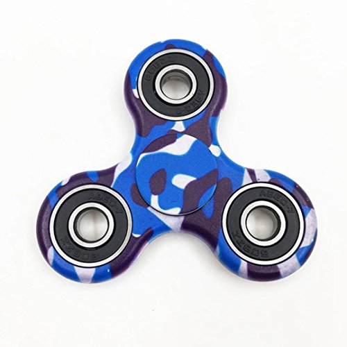 BBTshop Blu Camuffamento Fidget Hand Spinner Sollievo dallo Stress Giocattolo