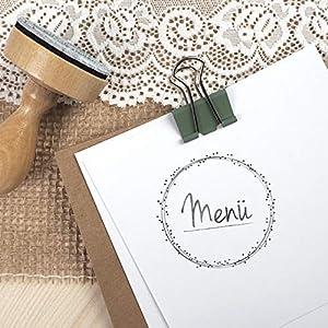 Stempel Hochzeit - Menü - Serie: Dots - Menükarten Tischkarten