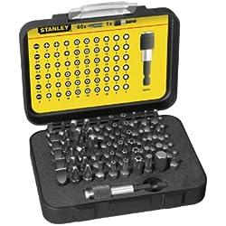 Stanley 1-13-902 - Juego de 60 puntas destornilladores + FMHT0-96230 - Alicate pelacables Automático
