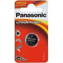 Panasonic - Confezione da 5 Batterie a bottone agli ioni di litio Cr2032 (Agli Ioni Di Litio A Bottone)