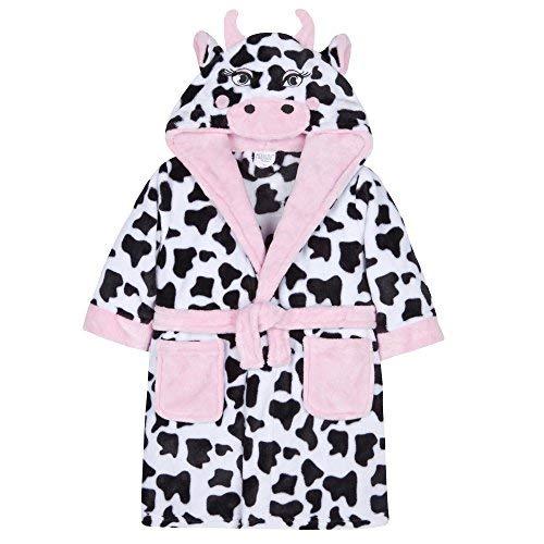 7b2d82d114 Minikidz Filles Polaire Peluche Nouveauté Vache Capuche Robe de Chambre -  Vache