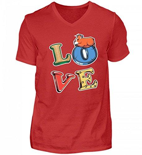 Hochwertiges Herren V-Neck Shirt - Meerschweinchen Guinea Pig Nagetier Nager Fun Shirt Spruch Lustige Geschenk Idee Haustier